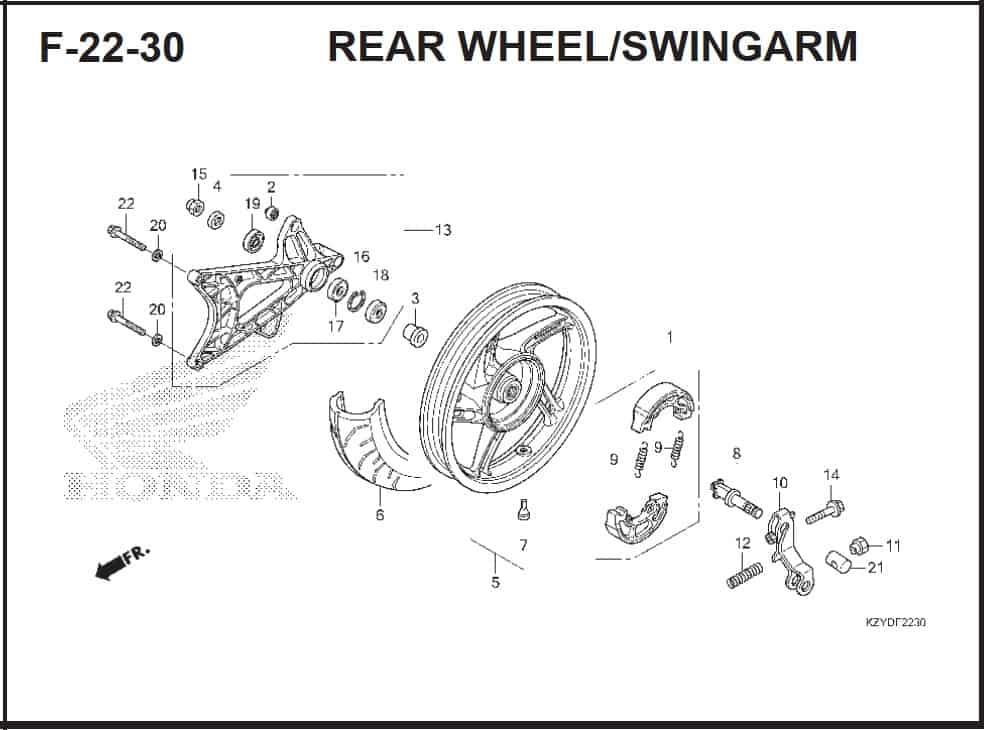 F-22-30 Rear Wheel