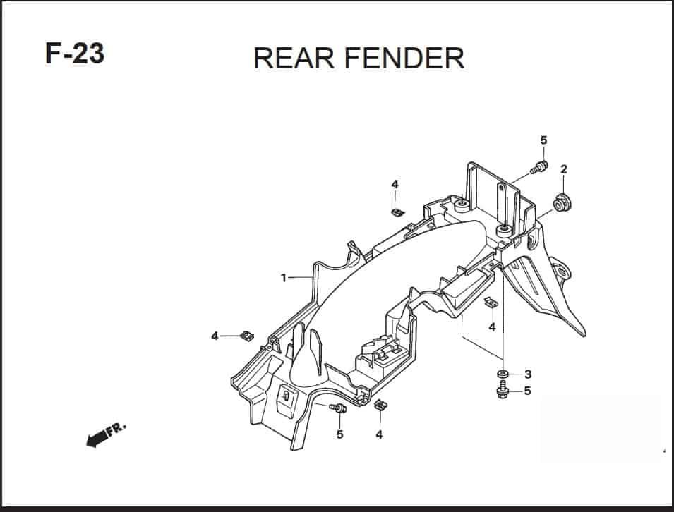 F-23 Rear Fender