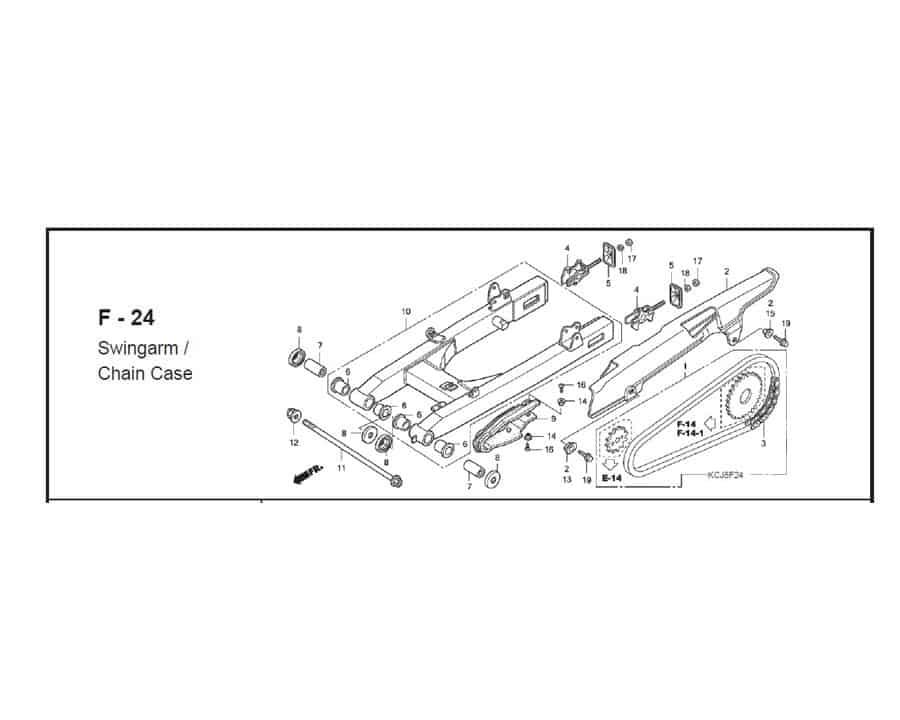 F-24 swingarm chain case