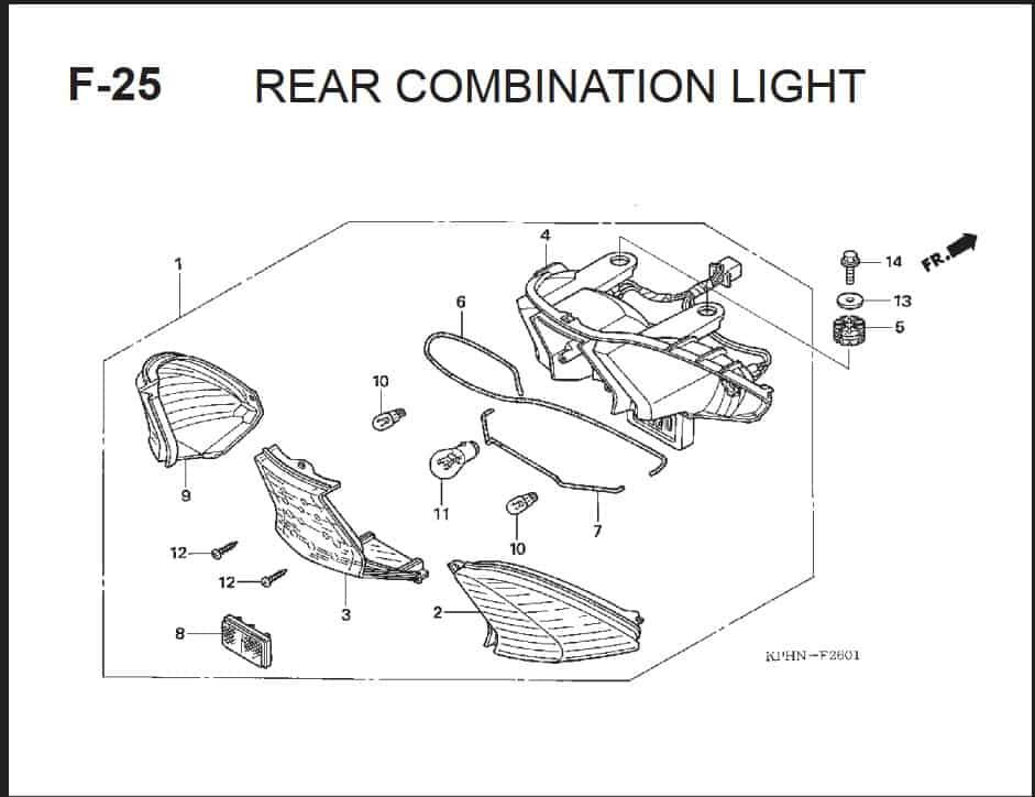 F-25 Rear Combination Light