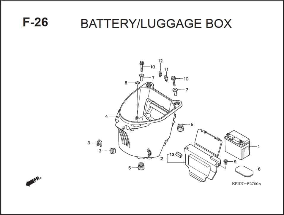 F-26 Battery Luagge Box
