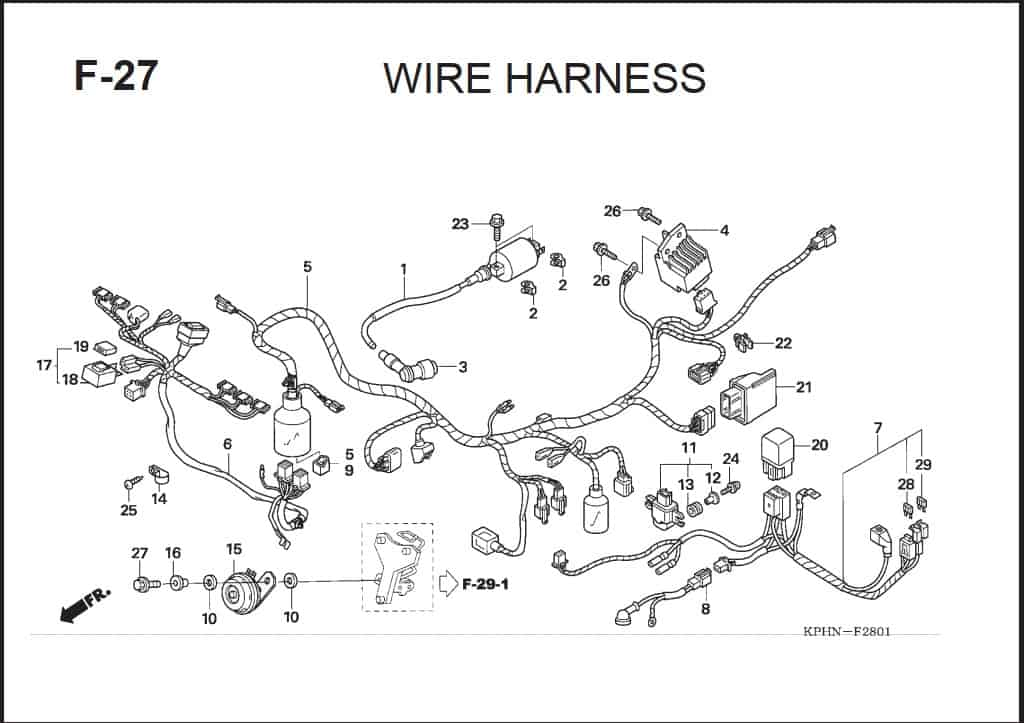 F-27 Wire Harness