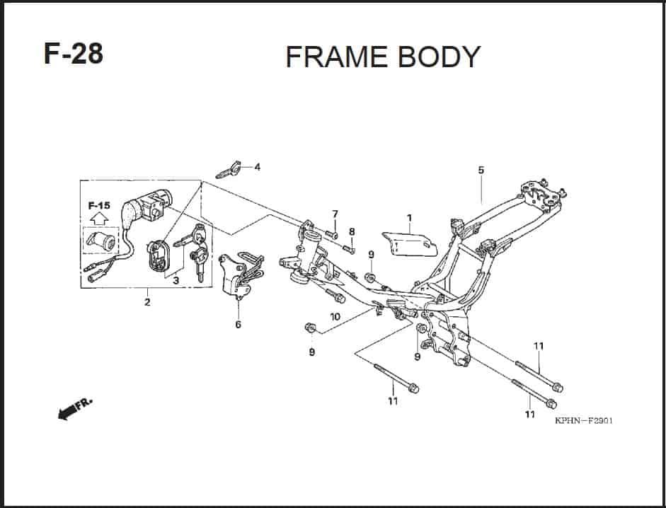 F-28 Frame Body