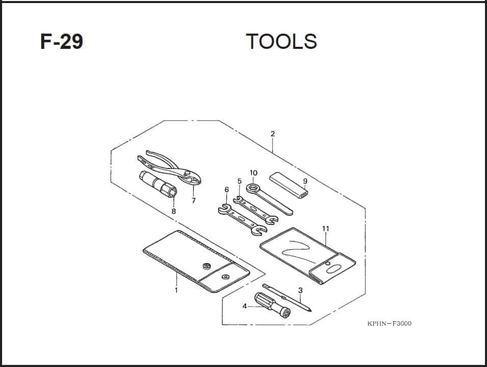 F-29 Tools – Katalog Suku Cadang Honda Supra X 125 PGM-FI