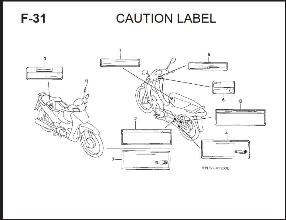 F-31 Caution Label