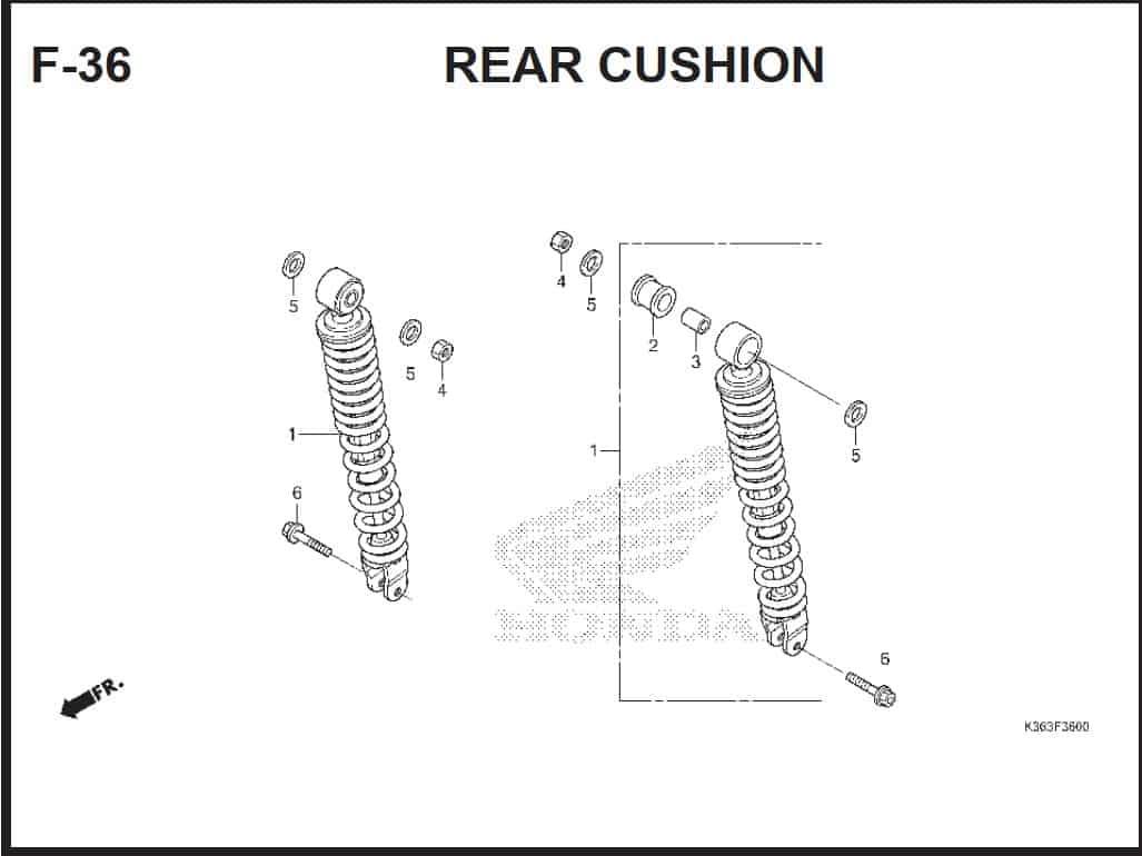 F-36 Rear Cushion