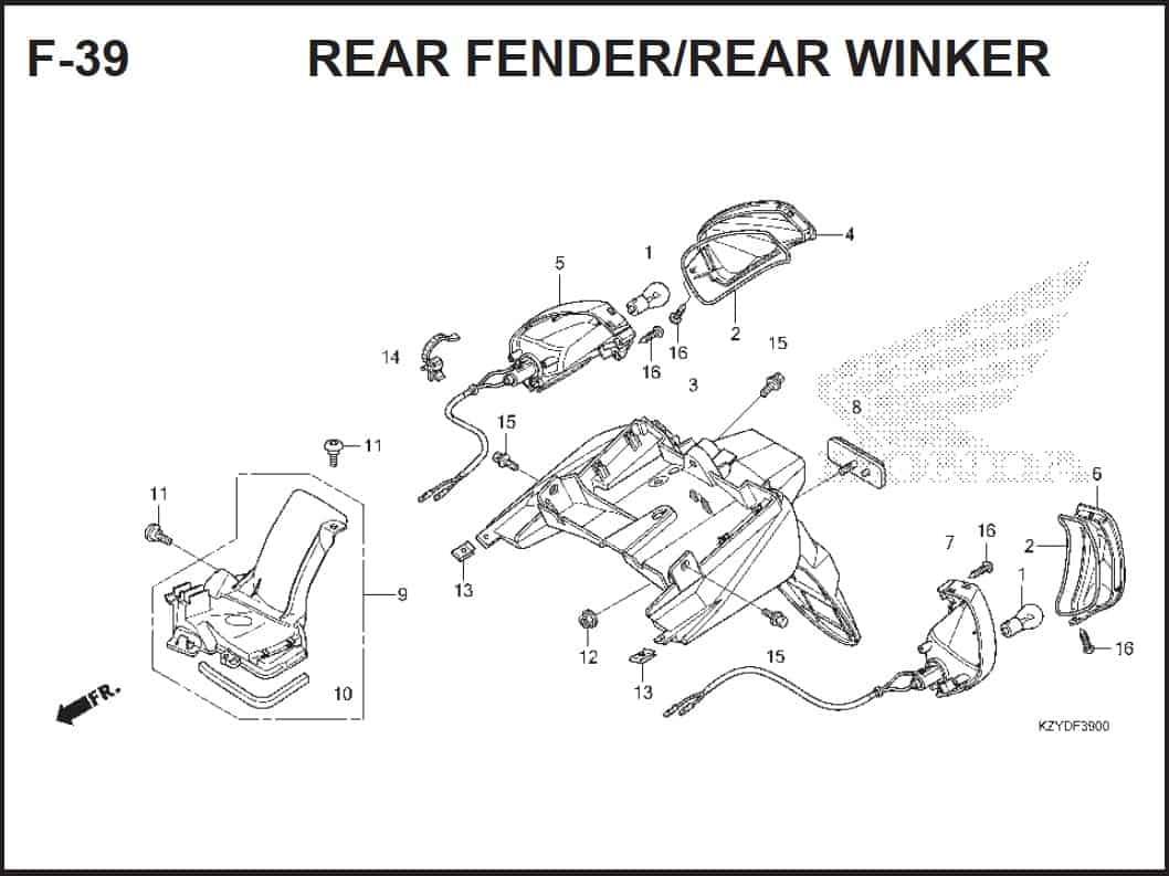 F-39 Rear Fender