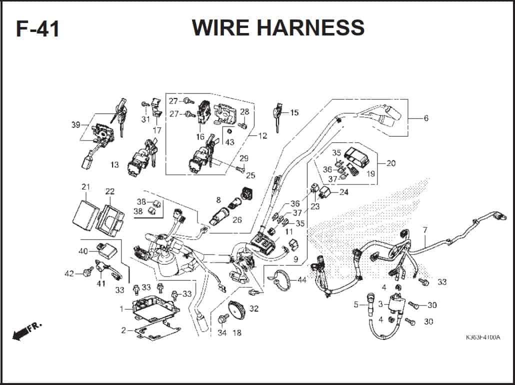 F-41 Wire Harness –  Katalog Honda PCX 150