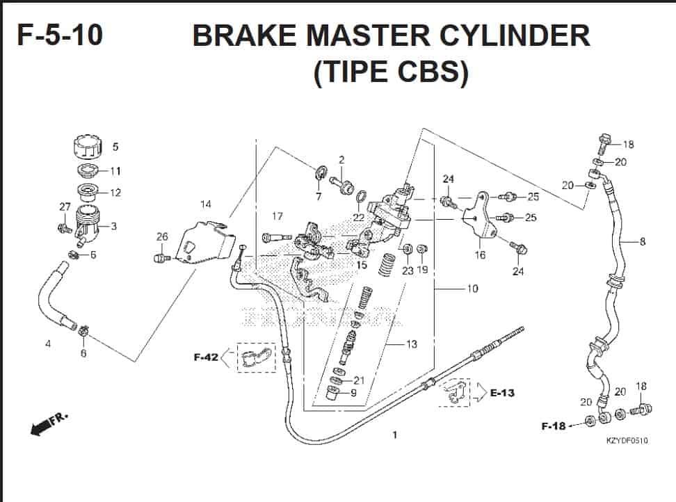 F-5-10 Brake Master Cylinder (Tipe CBS)