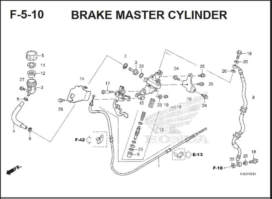 F-5-10 Brake Master Cylinder