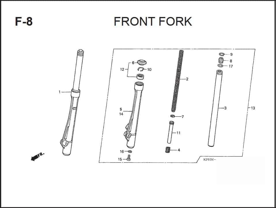 F-8 Front Fork