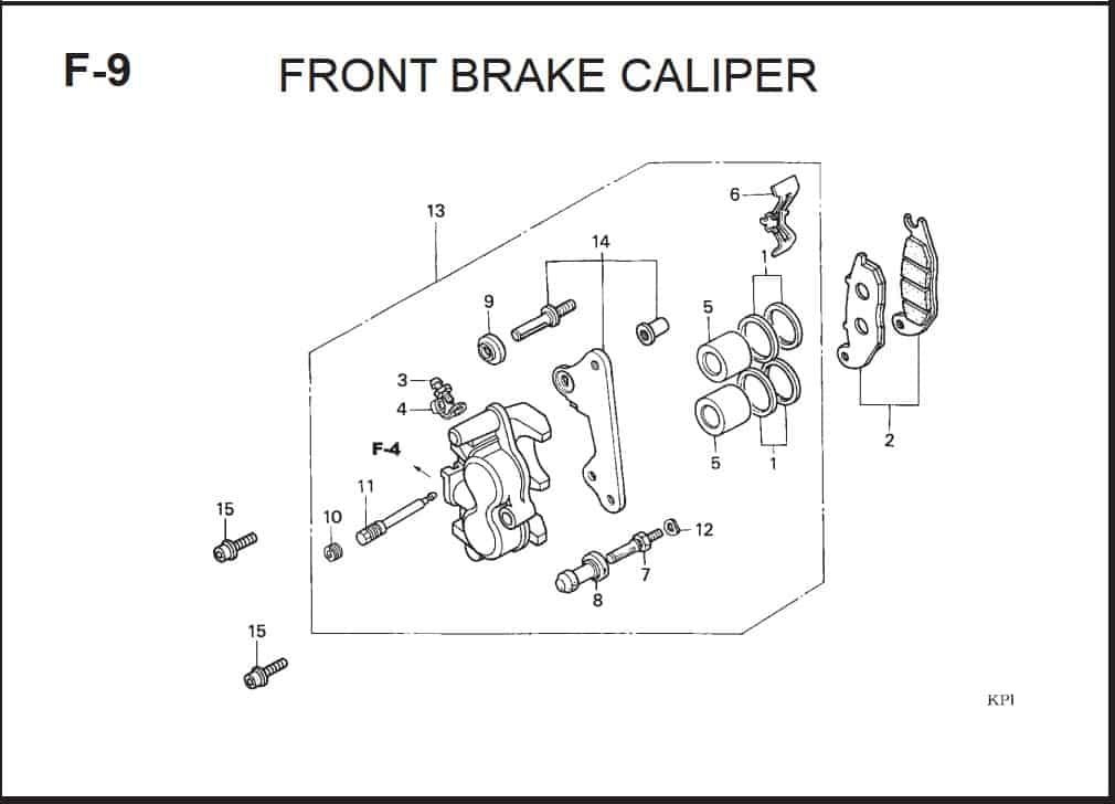 F-9 Front Brake Caliper