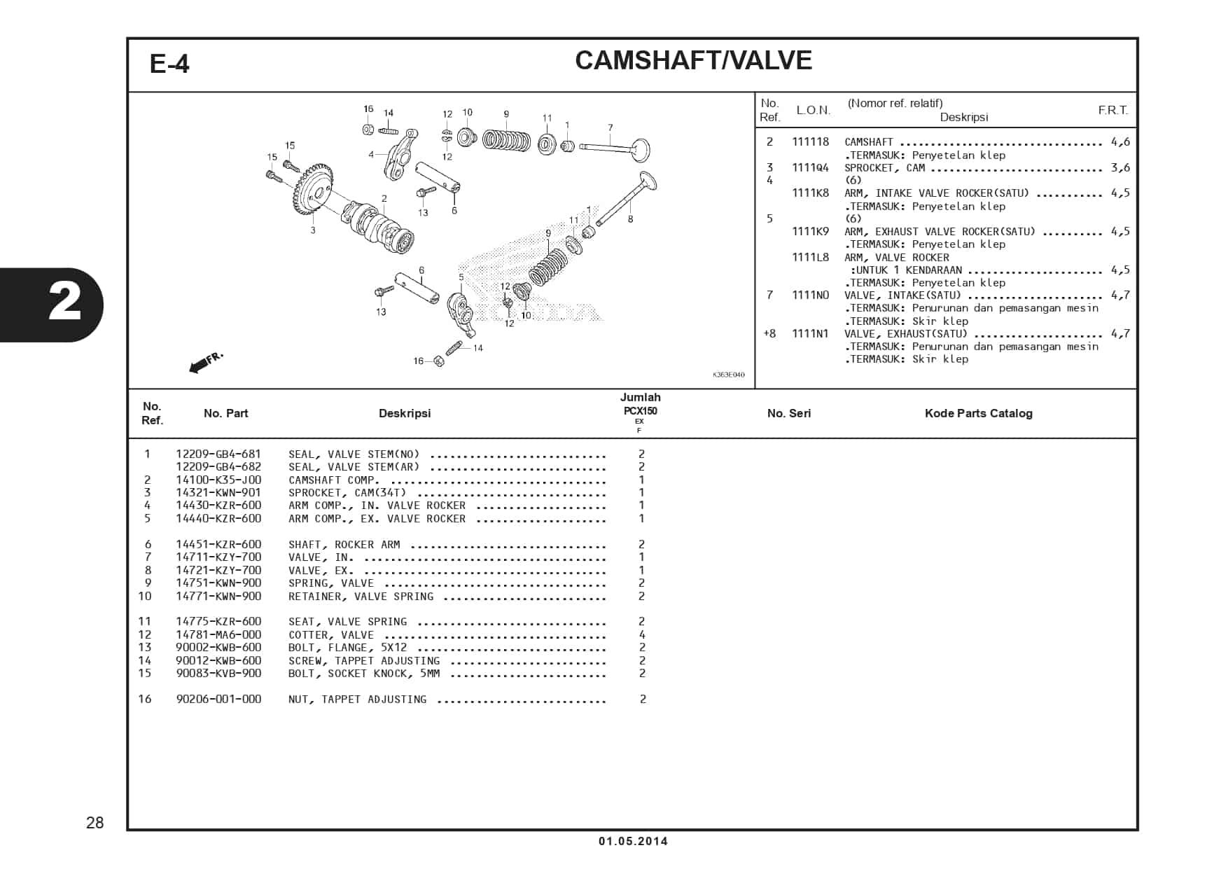 E-4 Camshaft/Valve