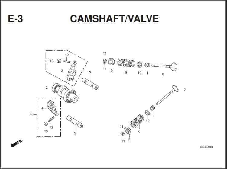 e-3 cranshatf valve