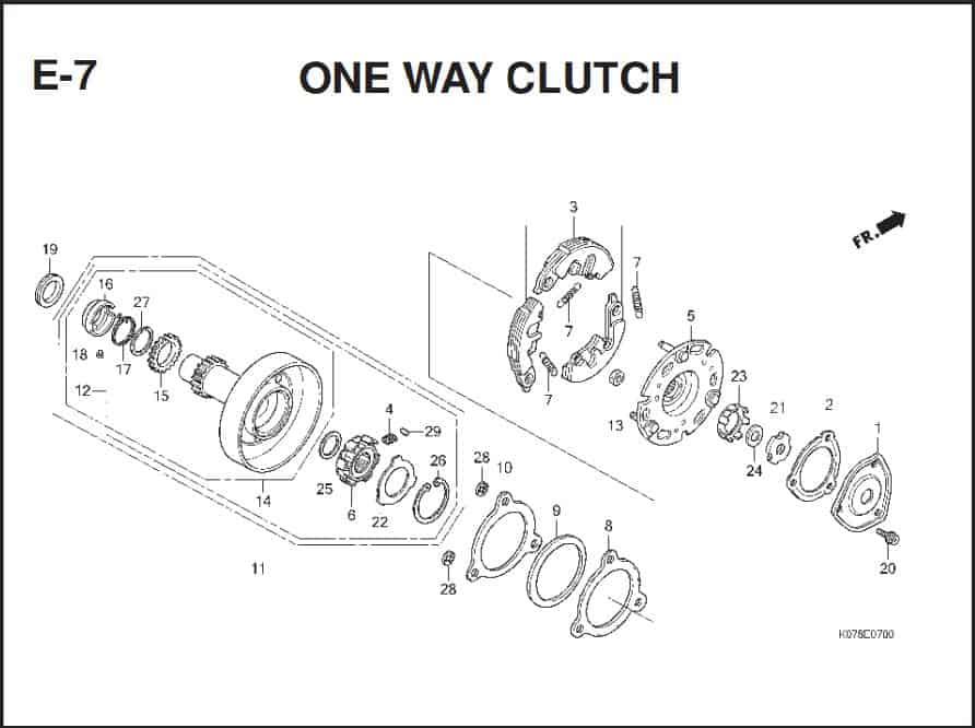 e-7 One Way Clutch