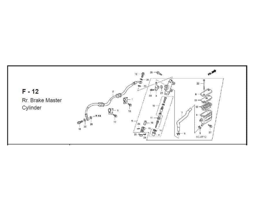 f-12 brake master cylinder