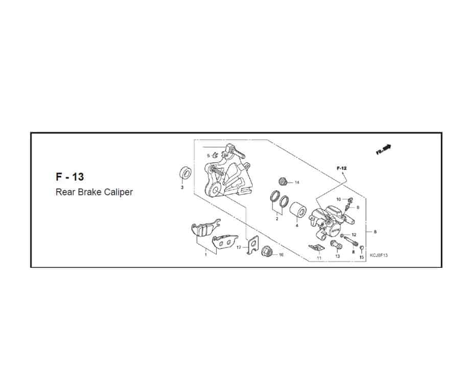 f-13 rear brake caliper