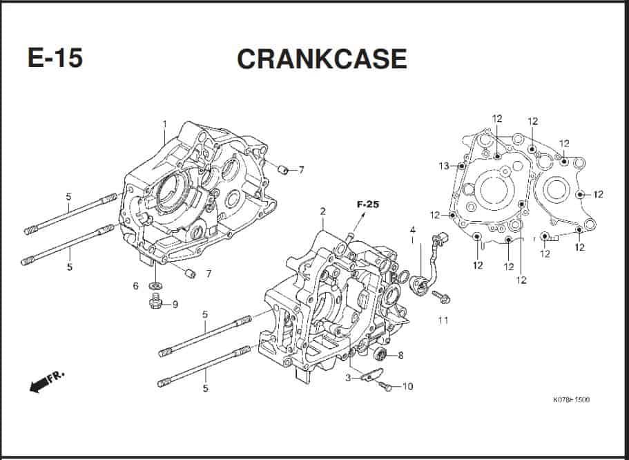 E-15 Crankcase – Katalog Suku Cadang Honda Blade 110