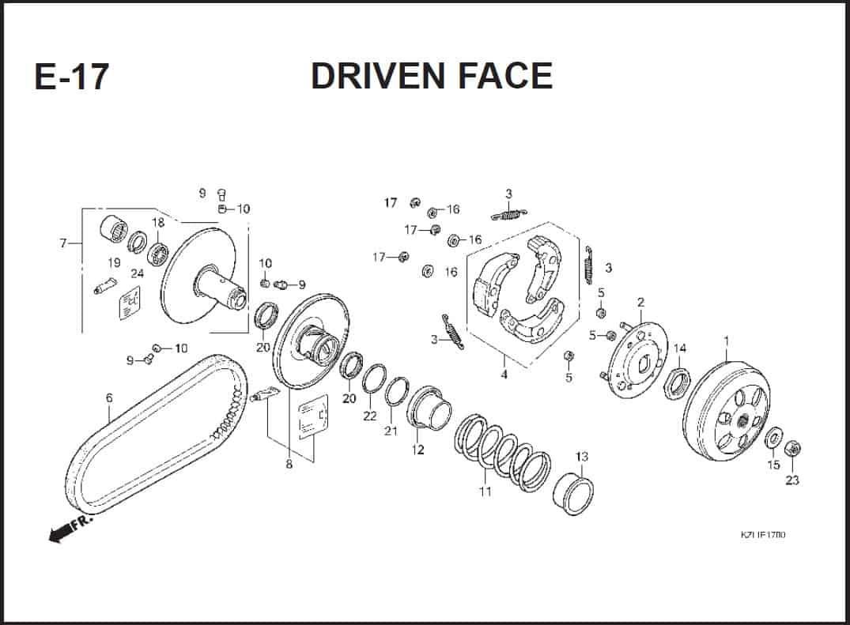 E-17 Driven Face – Katalog Suku Cadang Honda Spacy