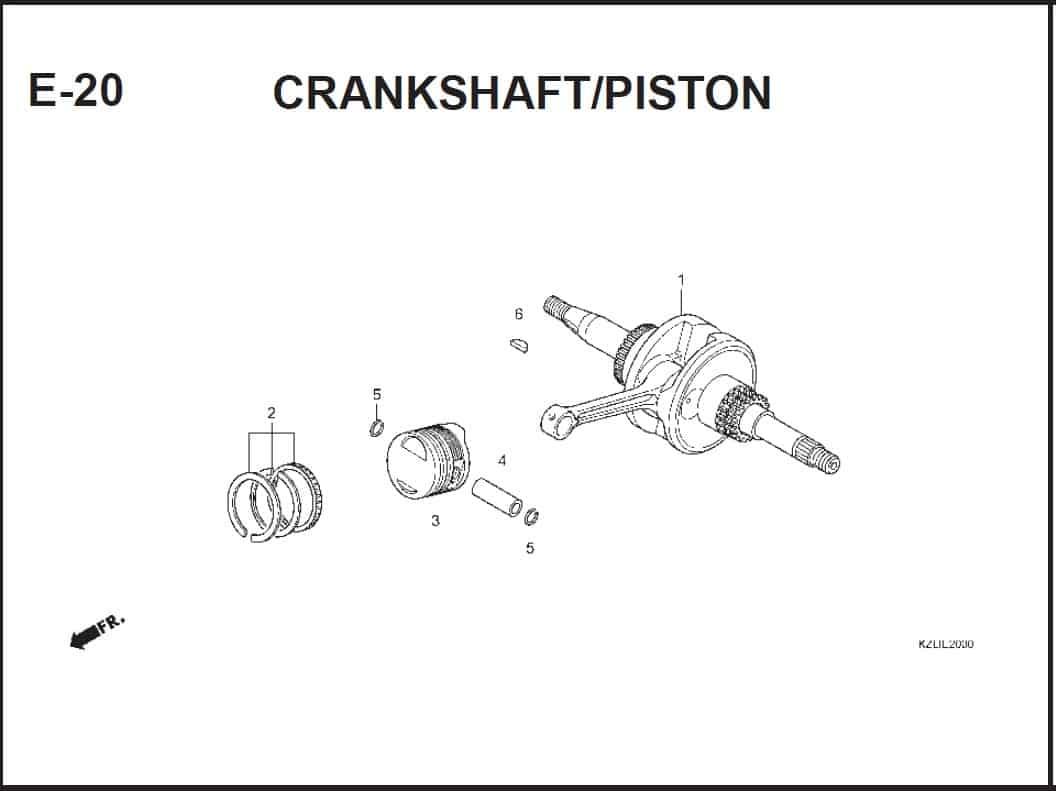 E-20 CRANKSHAFT/PISTON