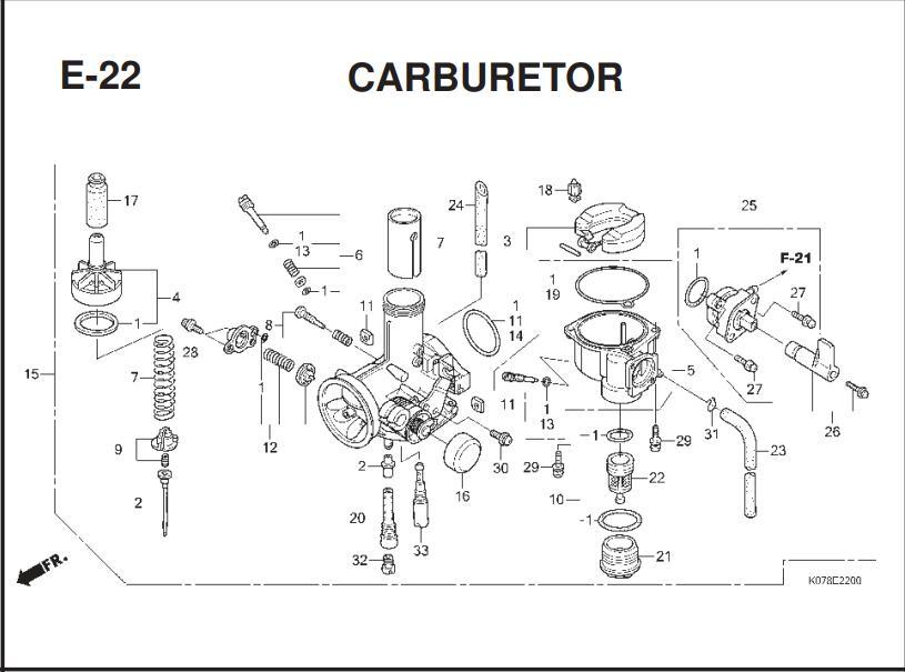 E-22 CARBURETOR