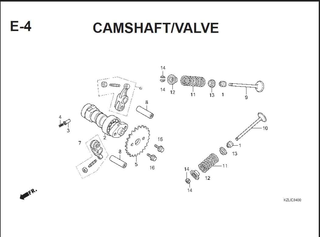 E-4 Camshaft/Valve – Katalog Suku Cadang Honda Spacy