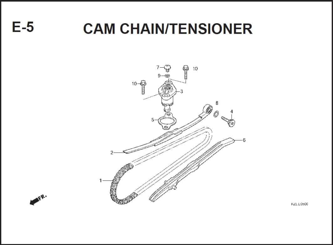 E-5 CAM CHAIN/TENSIONER