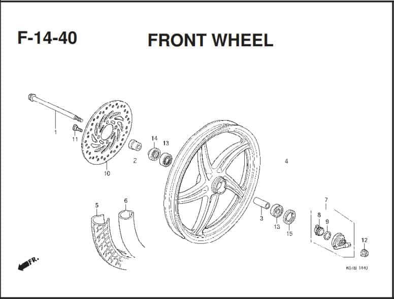 F-14-40 Front Wheel – Katalog Suku Cadang Honda Blade 110