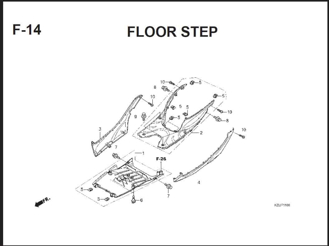 F-14 Floor Step – Katalog Suku Cadang Honda Spacy