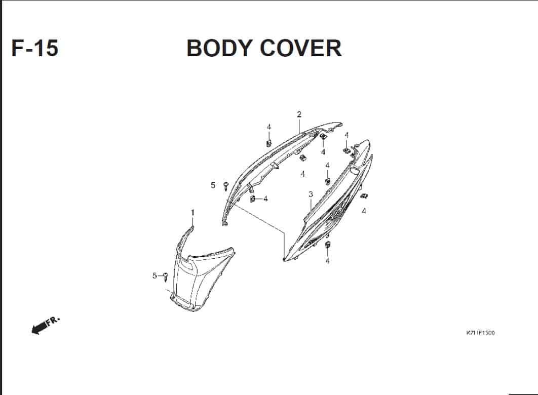F-15 Body Cover – Katalog Suku Cadang Honda Spacy