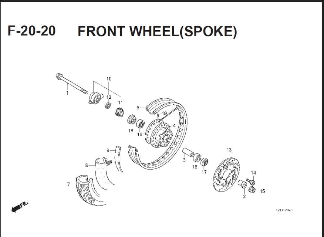 F-20-20 Front Wheel(SPOKE) – Katalog Suku Cadang Honda Spacy