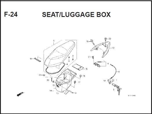 F-24 Seat/Luggage Box – Katalog Suku Cadang Honda Spacy