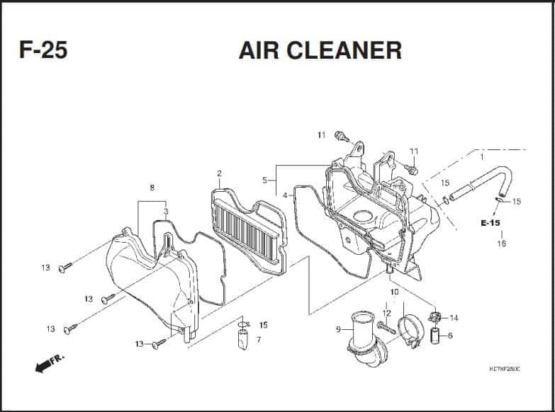 F-25 Air Cleaner – Katalog Suku Cadang Honda Blade 110