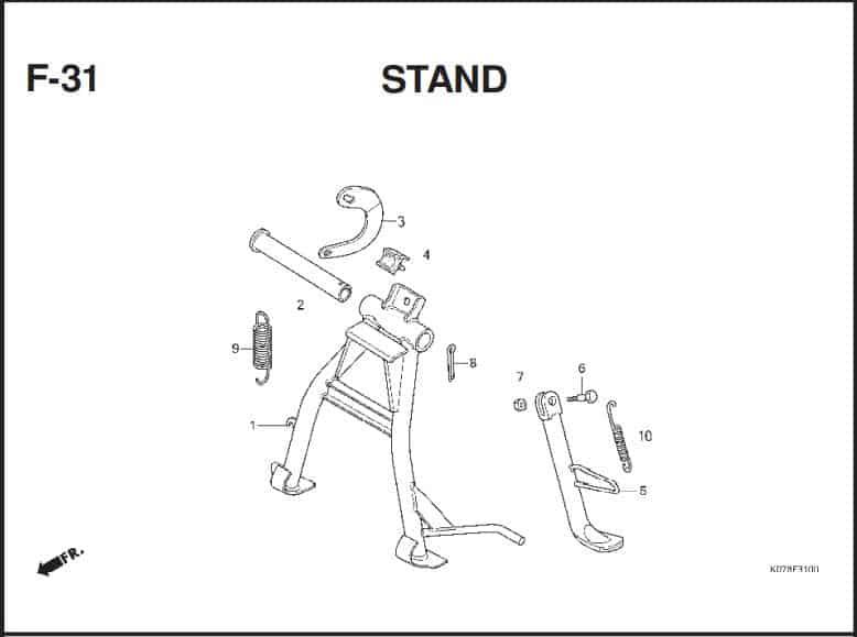 F-31 Stand – Katalog Suku Cadang Honda Blade 110