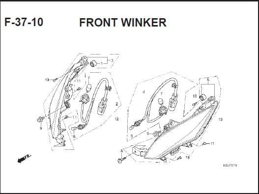F-37-10 Front Winker – Katalog Suku Cadang Honda Spacy