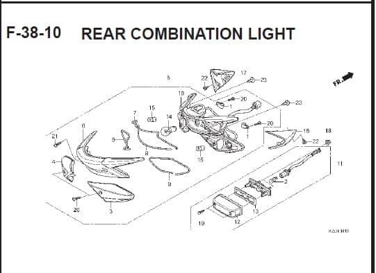 F-38-10 Rear Combination Light – Katalog Suku Cadang Honda Spacy