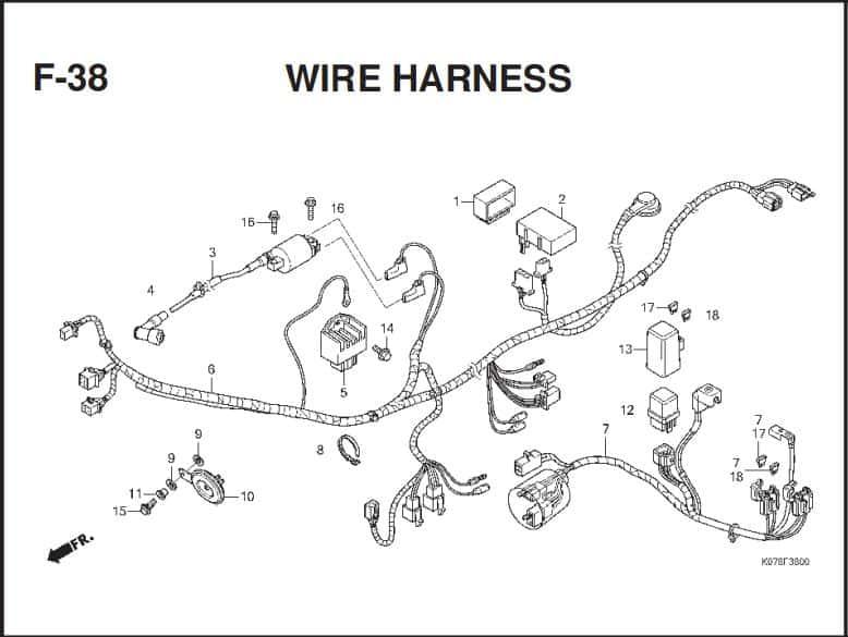 F-38 Wire Harness – Katalog Suku Cadang Honda Blade 110