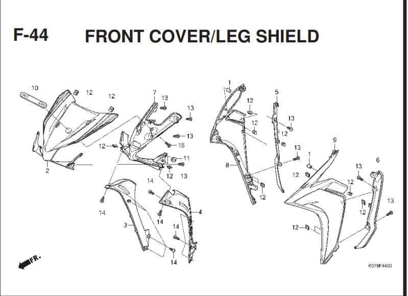 F-44 FRONT COVER/LEG SHIELD