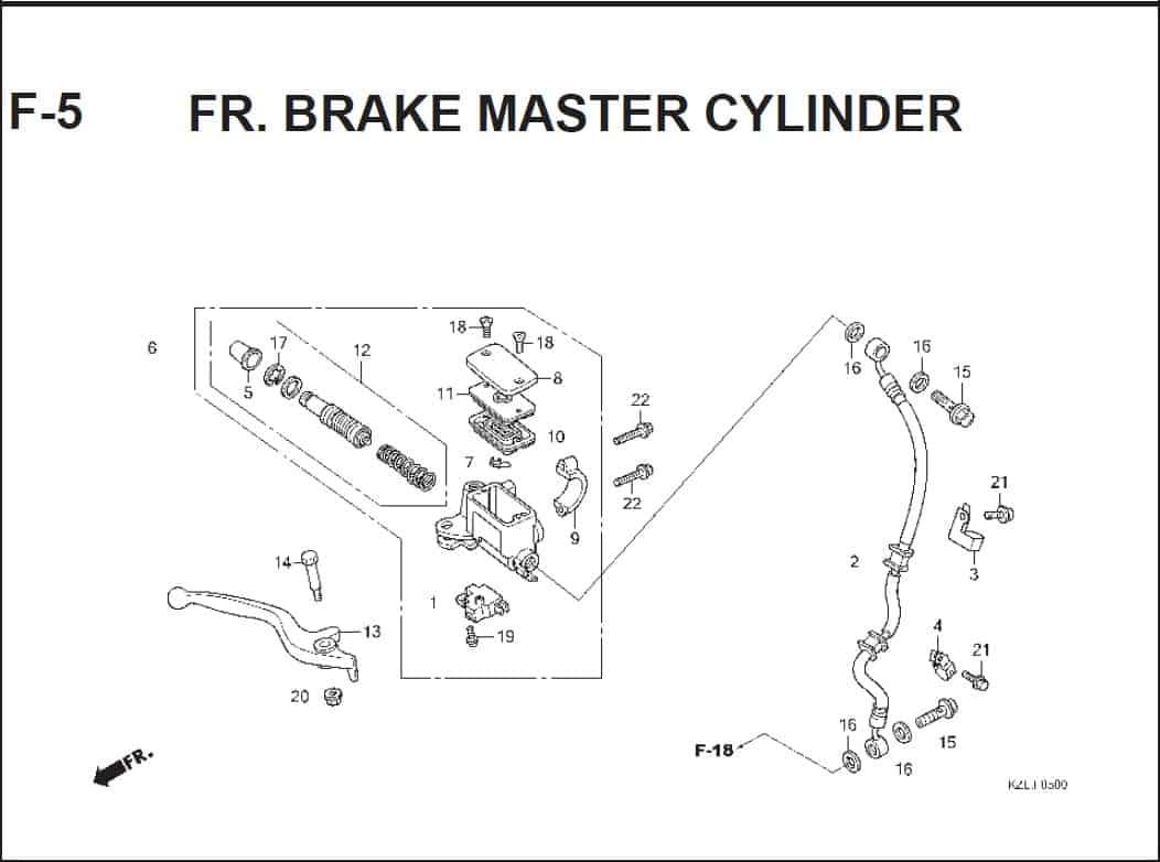 F-5 FR. Brake Master Cylinder – Katalog Suku Cadang Honda Spacy