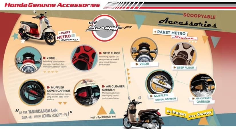 Aksesoris Resmi Honda Scoopy FI