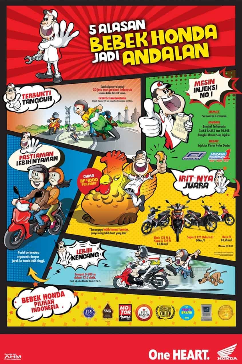 5 Alasan Motor Bebek Honda Pilihan Konsumen Indonesia