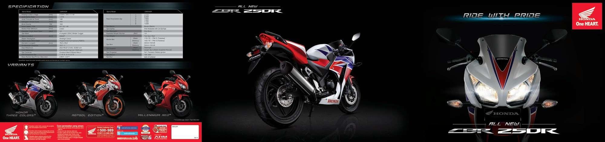 Brosur Motor Honda CBR 250R - 1