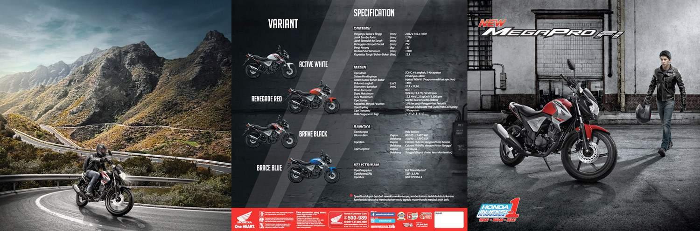 Brosur Motor Honda New Mega Pro FI - 1
