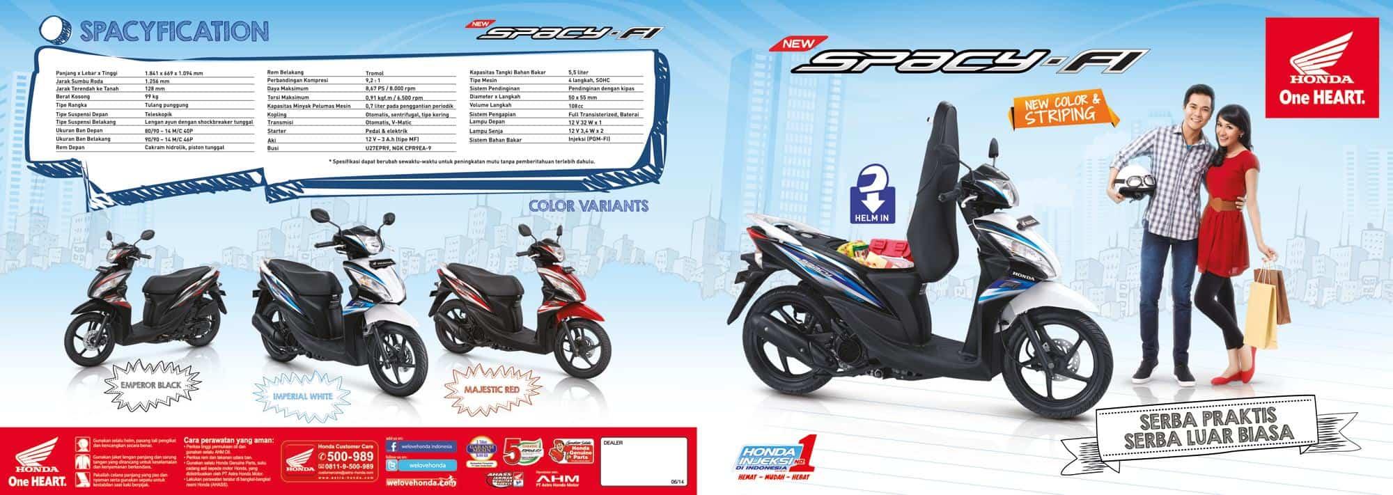 Brosur Motor Honda Spacy - 1