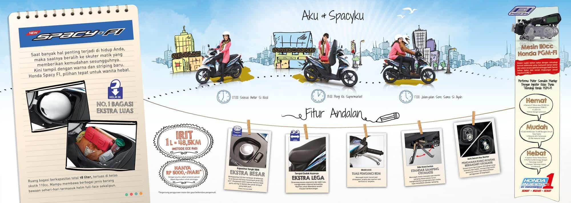 Brosur Motor Honda Spacy - 2