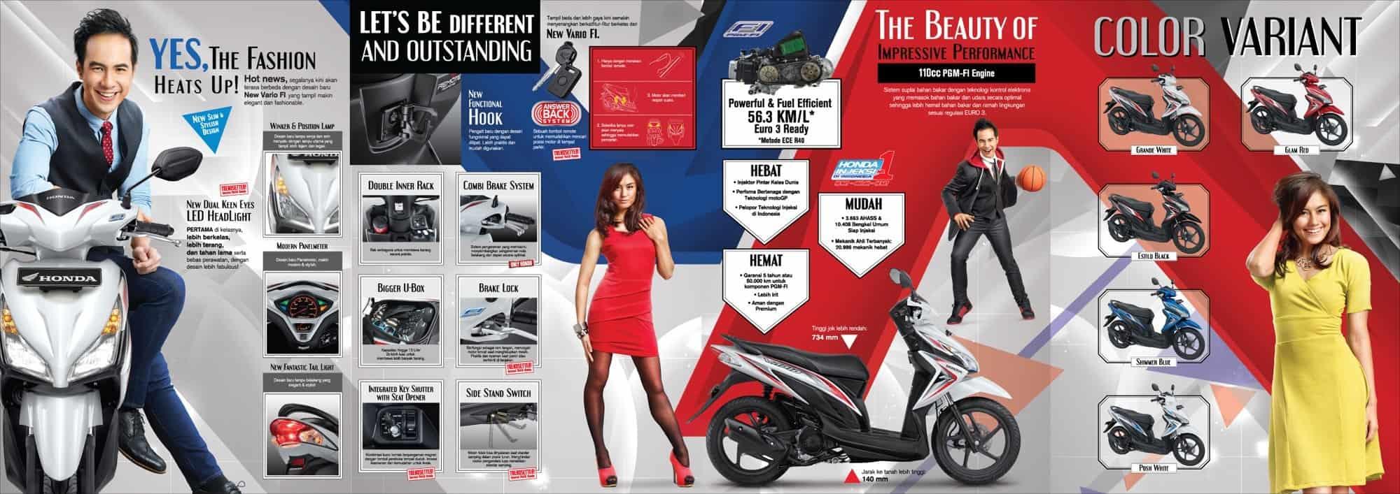 Brosur Motor Honda Vario CW 110 FI - 2