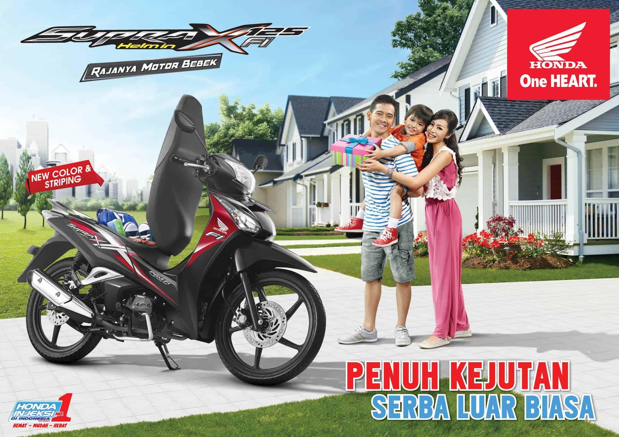 Brosur Motor Honda Supra X 125 Helm-In PGM-FI - 1