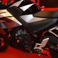 Close Up Honda CBR 150R Black