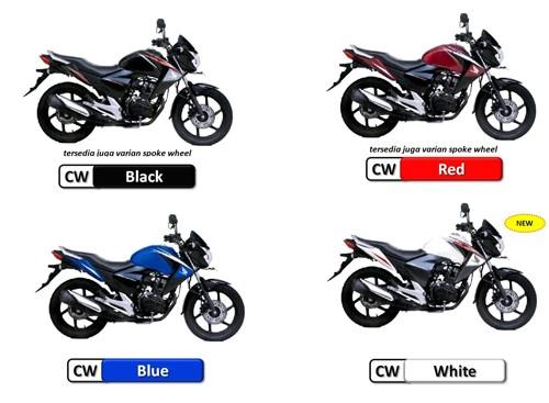 Honda New Mega Pro 2012 Pilihan Warna