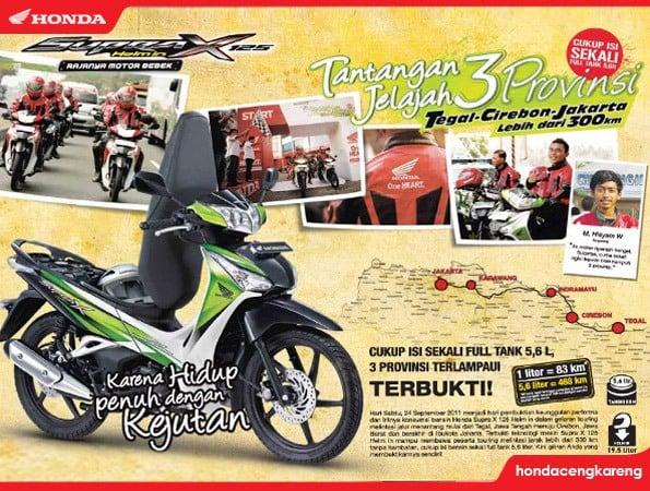 Honda Supra X 125 Helm In Capai Konsumsi 83.66 Km / Liter